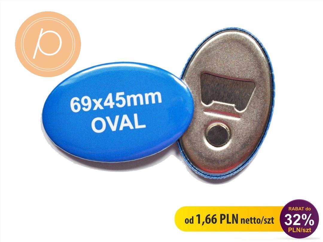 Otwieracz do butelek z magnesem owalny 69x45mm